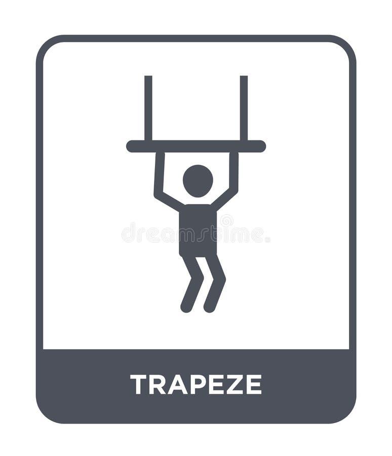 icono del trapecio en estilo de moda del diseño icono del trapecio aislado en el fondo blanco símbolo plano simple y moderno del  stock de ilustración