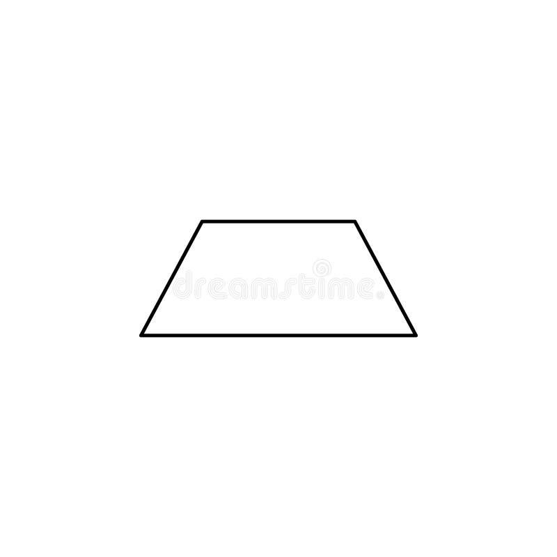 Icono del trapecio Figura geométrica elemento para los apps móviles del concepto y del web Línea fina icono para el diseño y el d stock de ilustración
