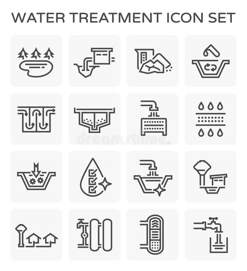 Icono del tratamiento de aguas stock de ilustración
