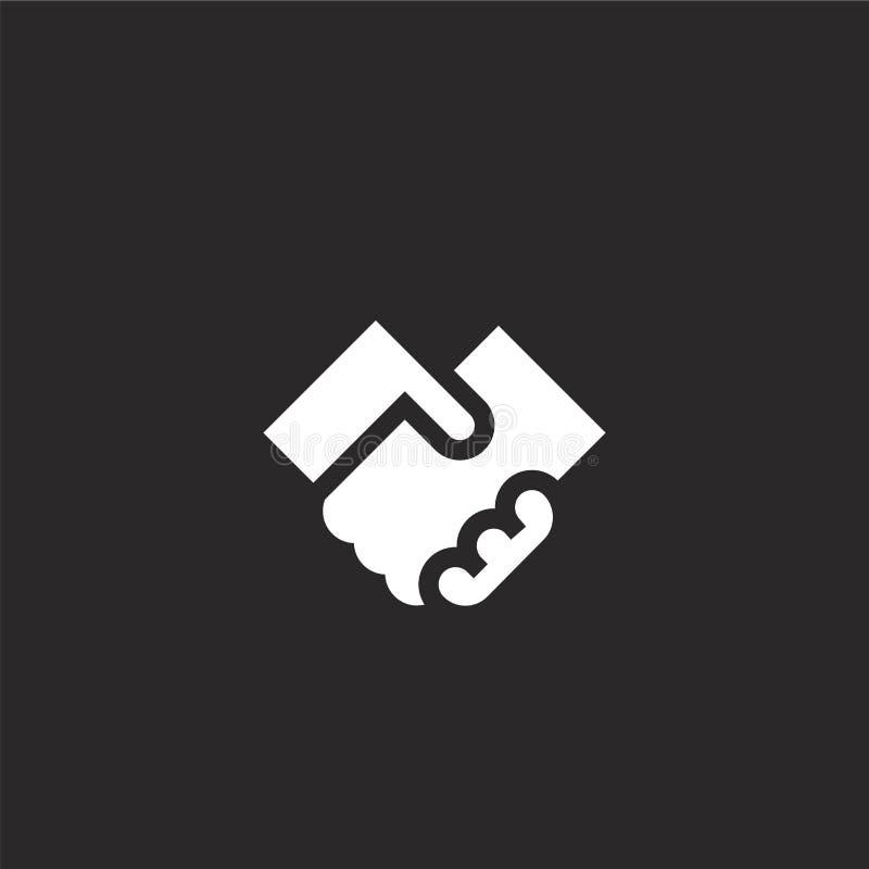Icono del trato Icono llenado del trato para el diseño y el móvil, desarrollo de la página web del app el icono del trato de la c stock de ilustración