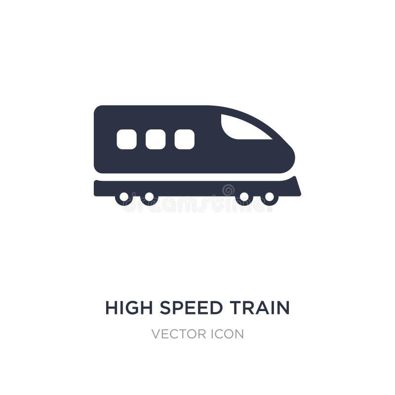 icono del tren de alta velocidad en el fondo blanco Ejemplo simple del elemento del concepto del transporte libre illustration