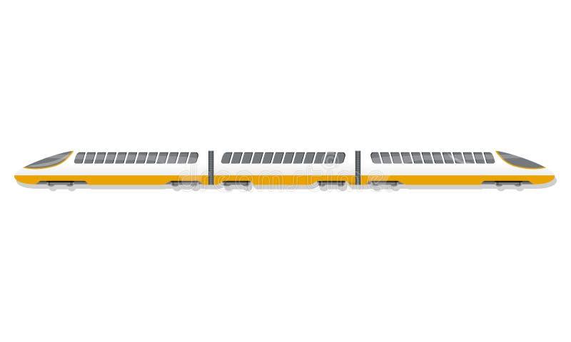 Icono del tren de alta velocidad, estilo de la historieta libre illustration