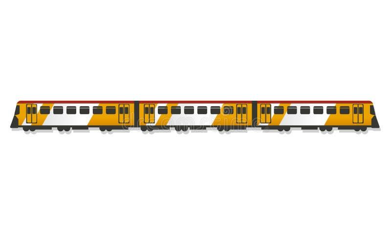 Icono del tren de pasajeros, estilo de la historieta ilustración del vector