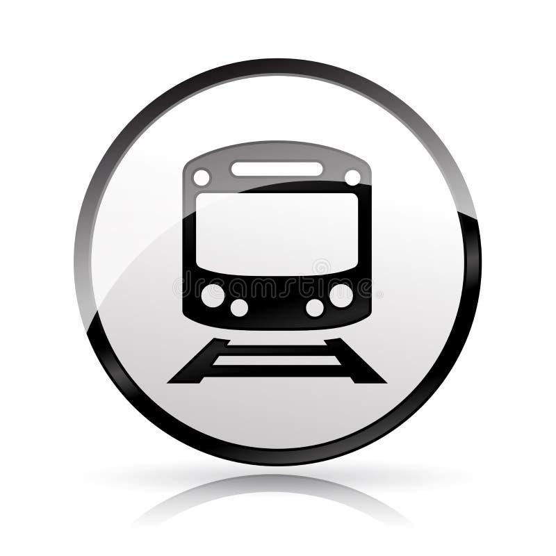 Icono del tren en el fondo blanco stock de ilustración
