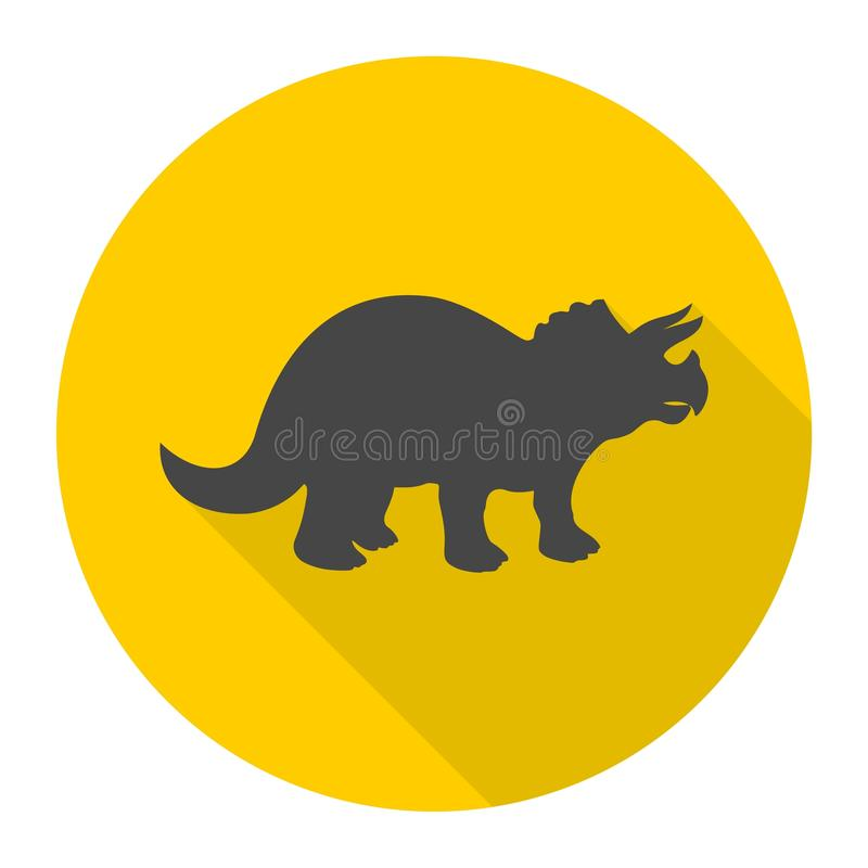 Icono del Triceratops con la sombra larga libre illustration