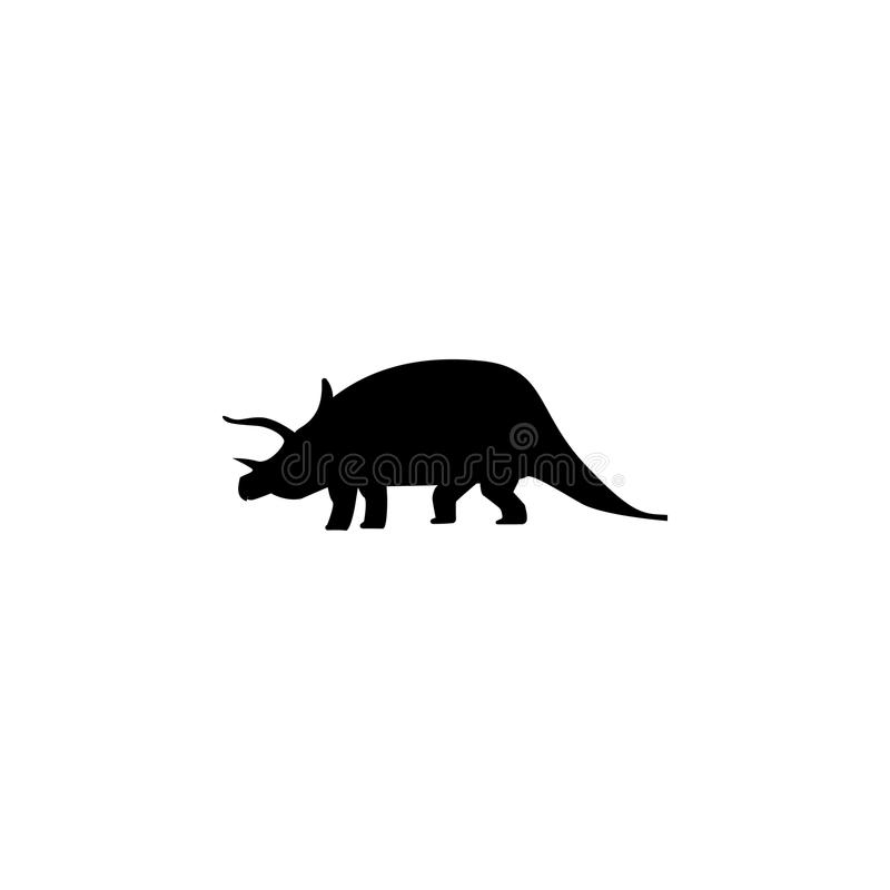 Icono del Triceratops Elementos del icono del dinosaurio Diseño gráfico de la calidad superior Muestras e icono para los sitios w stock de ilustración