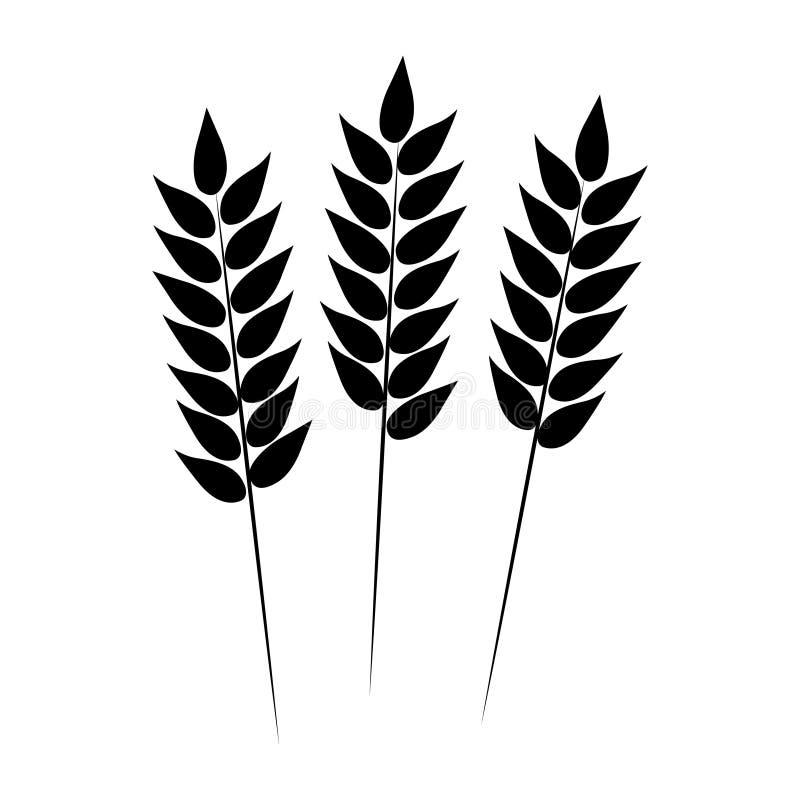Icono del trigo Ilustración del vector stock de ilustración