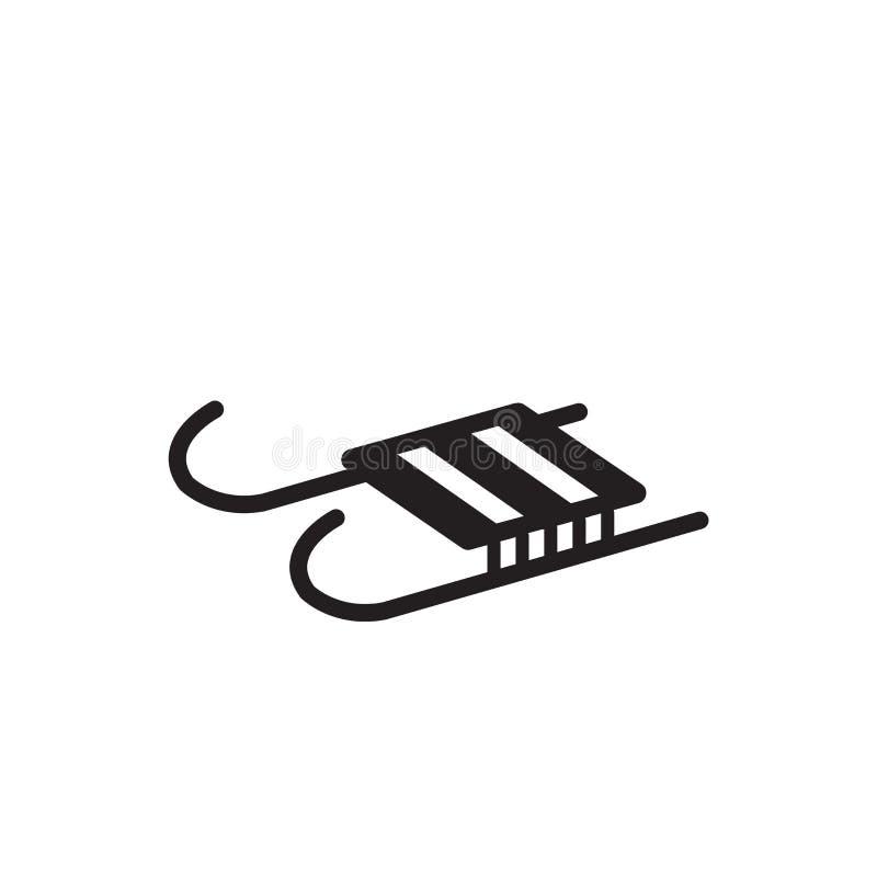Icono del trineo  ilustración del vector