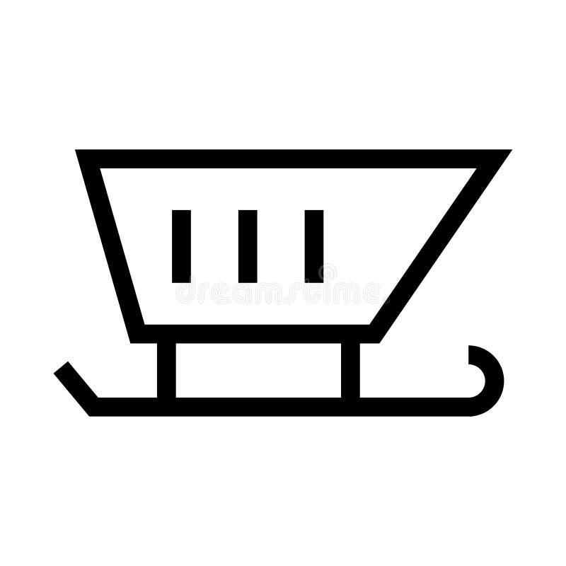 Icono del trineo de la Navidad ilustración del vector