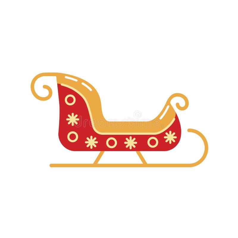Icono del trineo de Santa Claus de la Navidad libre illustration