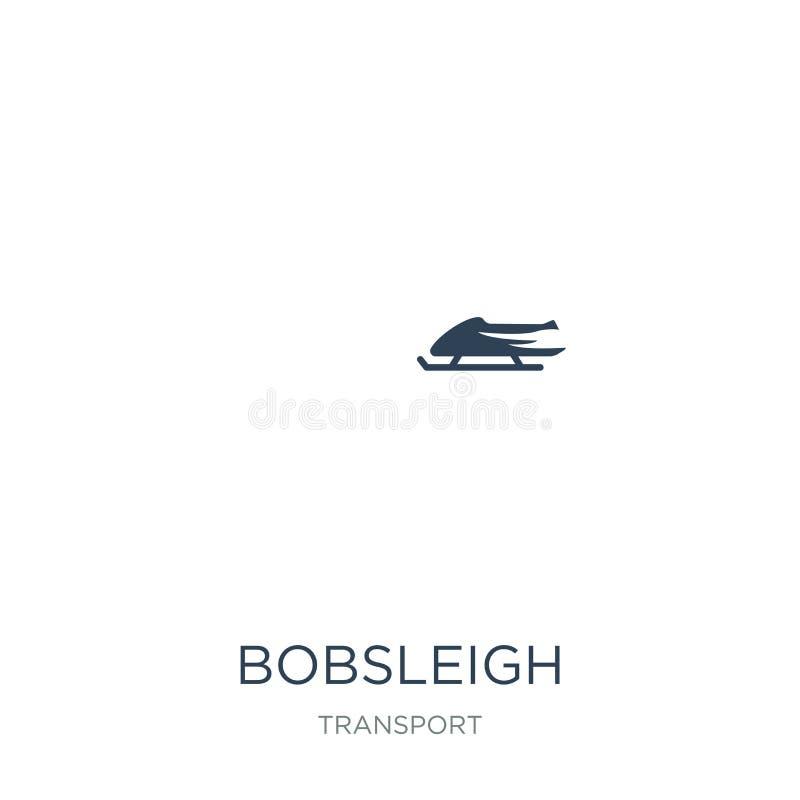 icono del trineo en estilo de moda del diseño icono del trineo aislado en el fondo blanco plano simple y moderno del icono del ve stock de ilustración
