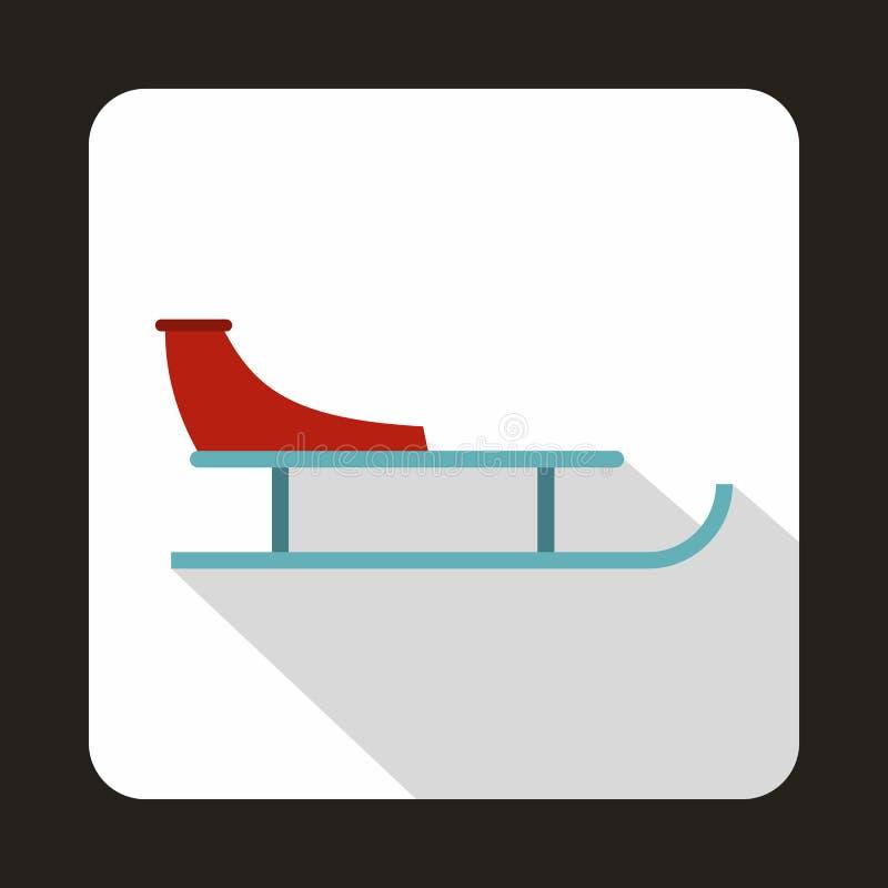 Icono del trineo en estilo plano ilustración del vector