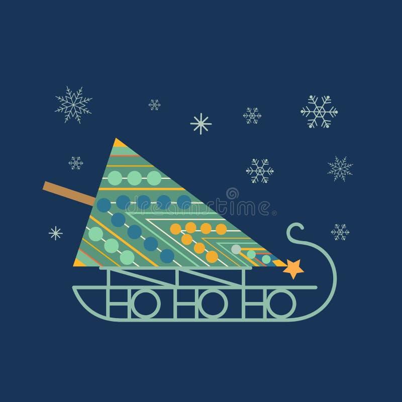 Icono del trineo del ` s de Papá Noel libre illustration