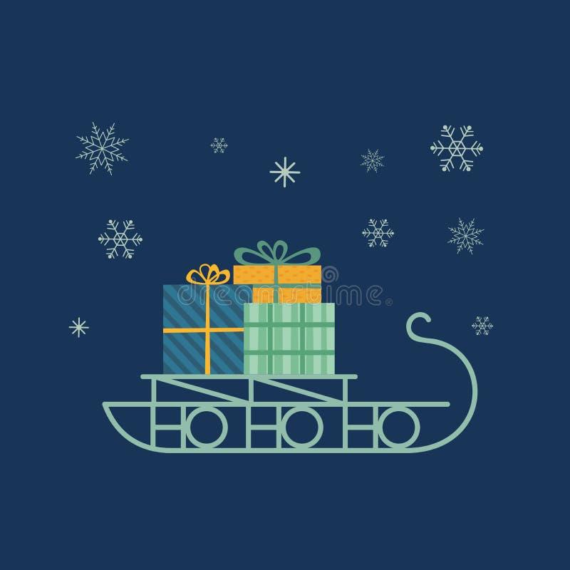 Icono del trineo del ` s de Papá Noel ilustración del vector