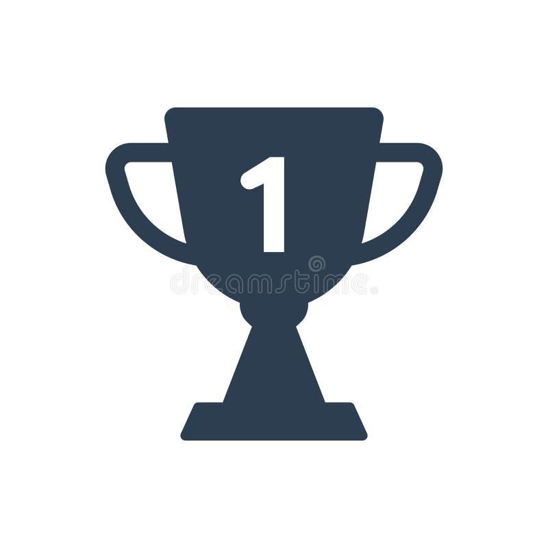 Icono del trofeo del premio stock de ilustración