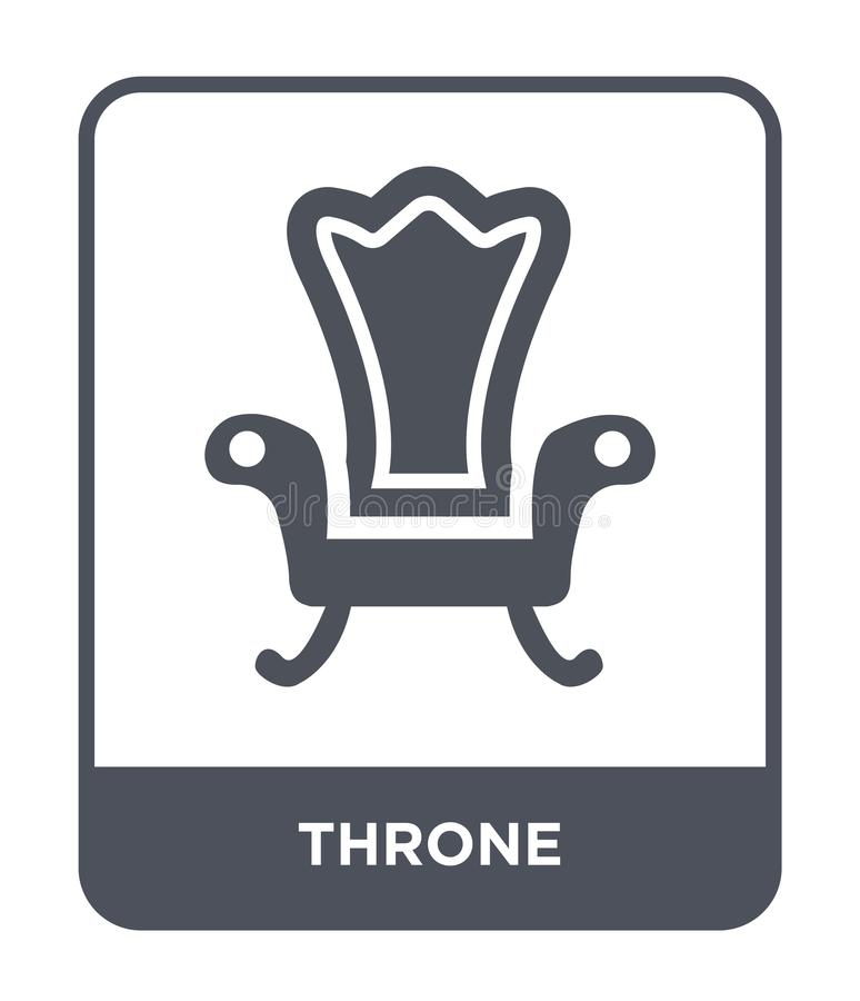 icono del trono en estilo de moda del diseño icono del trono aislado en el fondo blanco símbolo plano simple y moderno del icono  libre illustration