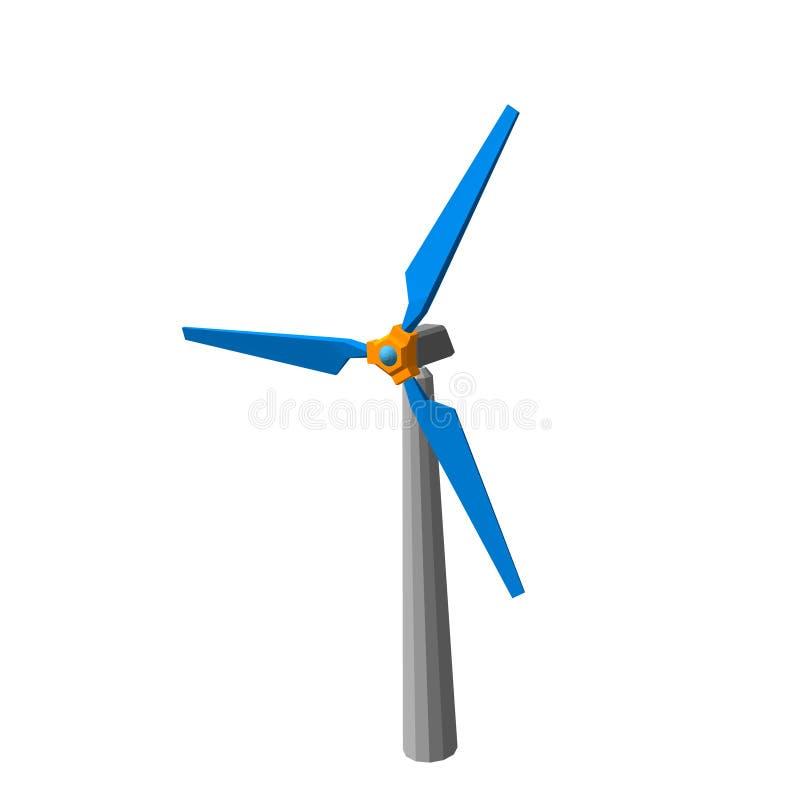 Icono del turbin del viento Aislado en el fondo blanco Illustrat del vector ilustración del vector