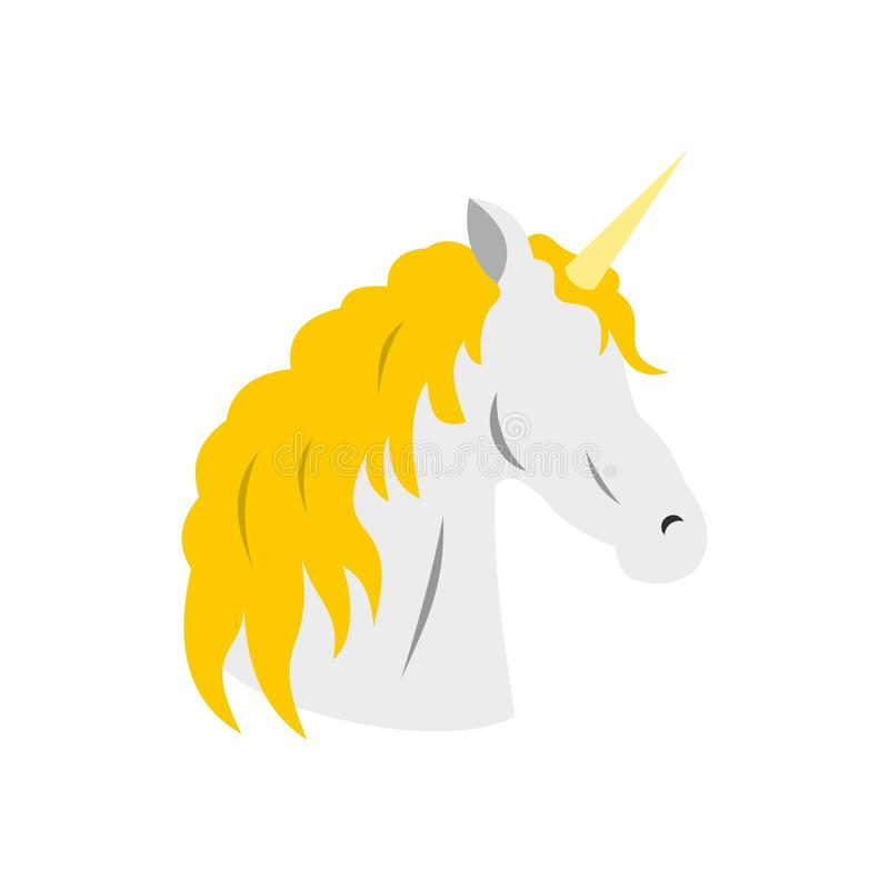 Icono del unicornio, estilo plano libre illustration