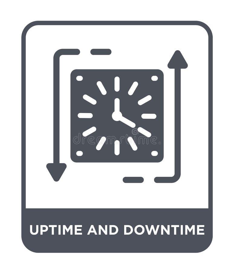 icono del uptime y del tiempo muerto en estilo de moda del diseño icono del uptime y del tiempo muerto aislado en el fondo blanco libre illustration
