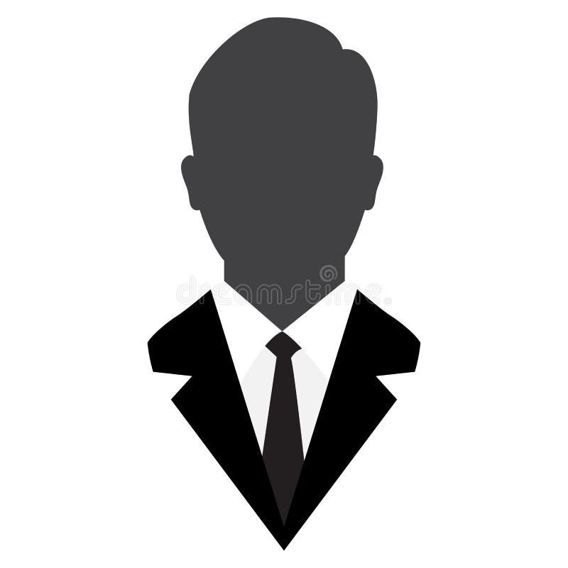 Icono del usuario, avatar masculino en el traje-vector del negocio icónico ilustración del vector