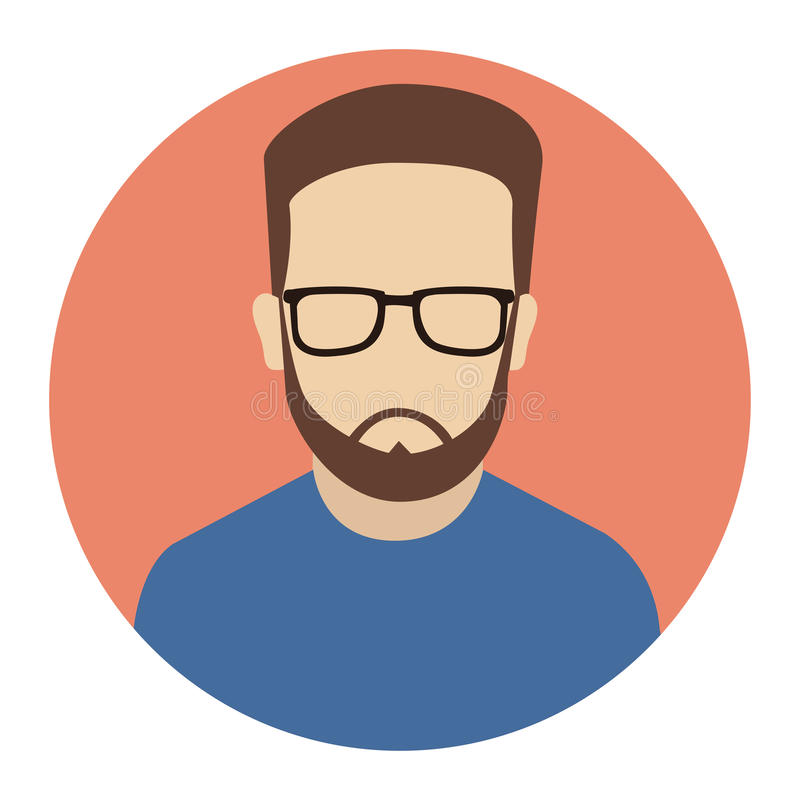 Icono del usuario, diseño plano del Avatar-vector masculino del inconformista libre illustration