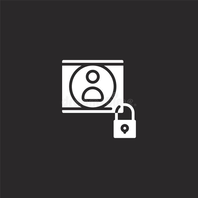 Icono del usuario Icono llenado del usuario para el diseño y el móvil, desarrollo de la página web del app icono del usuario de l ilustración del vector