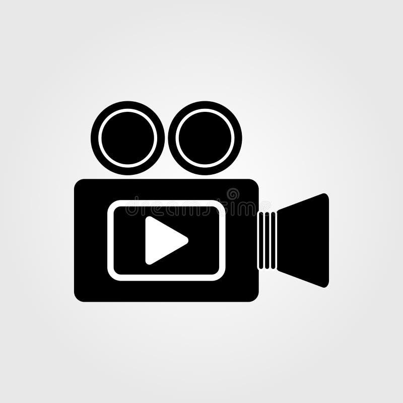 icono del vídeo 4k y de la videocámara de la acción, ejemplo del vector ilustración del vector