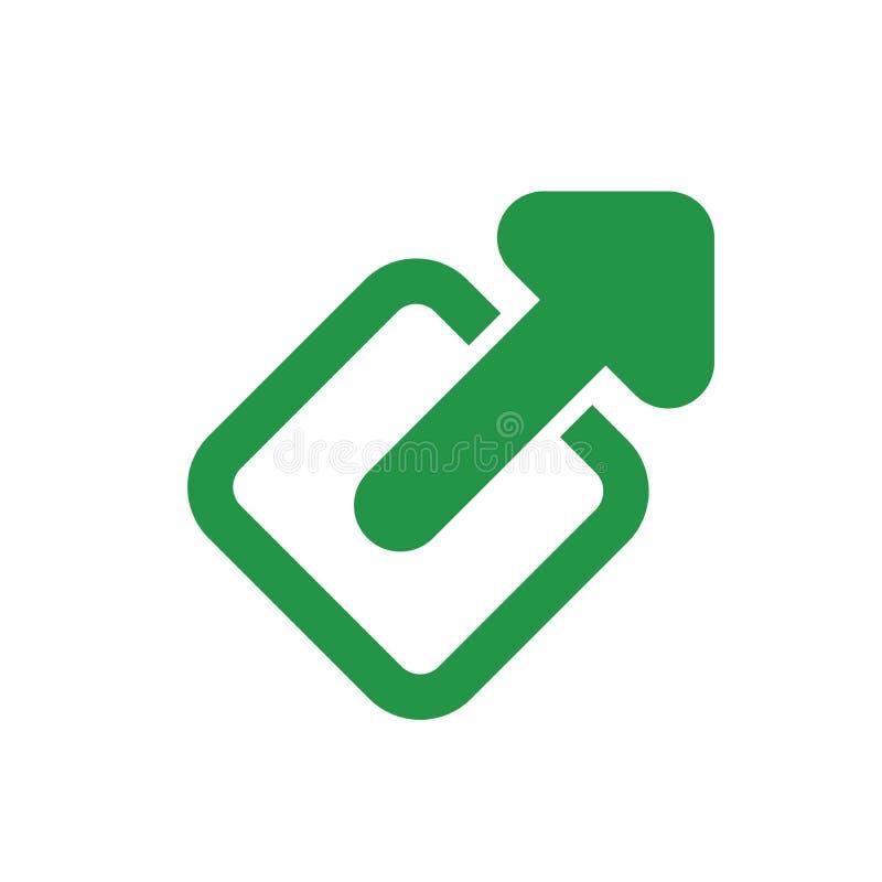 Icono del vínculo externo - muestra a usuario que saldrán de un app para una página web libre illustration