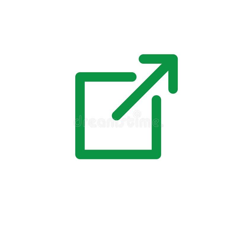 Icono del v?nculo externo con la caja y la flecha - icono de UI o de UX libre illustration