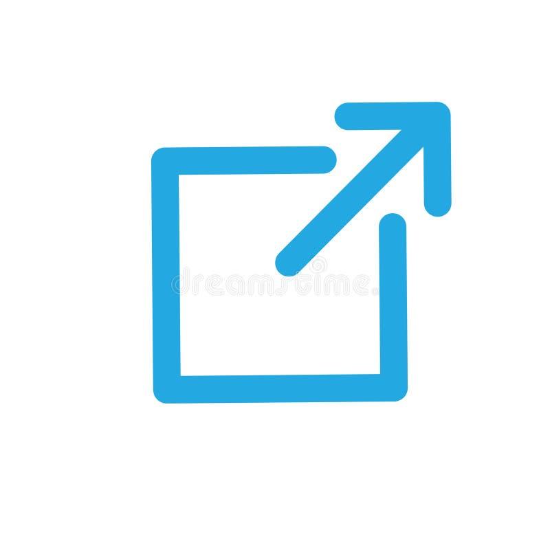 Icono del v?nculo externo - demostraci?n de la flecha que sale del app para visitar una p?gina web externa libre illustration