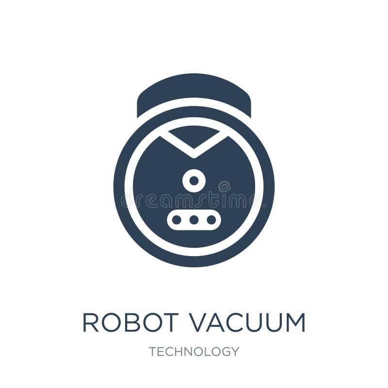 icono del vacío del robot en estilo de moda del diseño icono del vacío del robot aislado en el fondo blanco icono del vector del  libre illustration