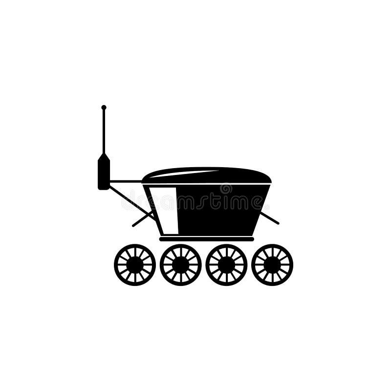 Icono del vagabundo de la exploración de Marte Elementos del icono del espacio stock de ilustración
