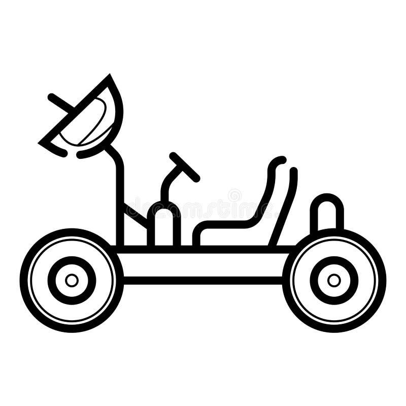 Icono del vagabundo de la luna ilustración del vector