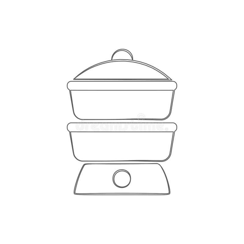 icono del vapor del logotipo Elemento de la seguridad cibernética para el concepto y el icono móviles de los apps de la web Línea stock de ilustración