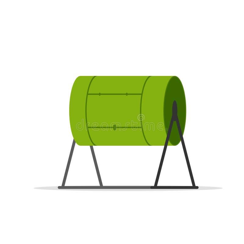 Icono del vaso del estiércol vegetal ilustración del vector