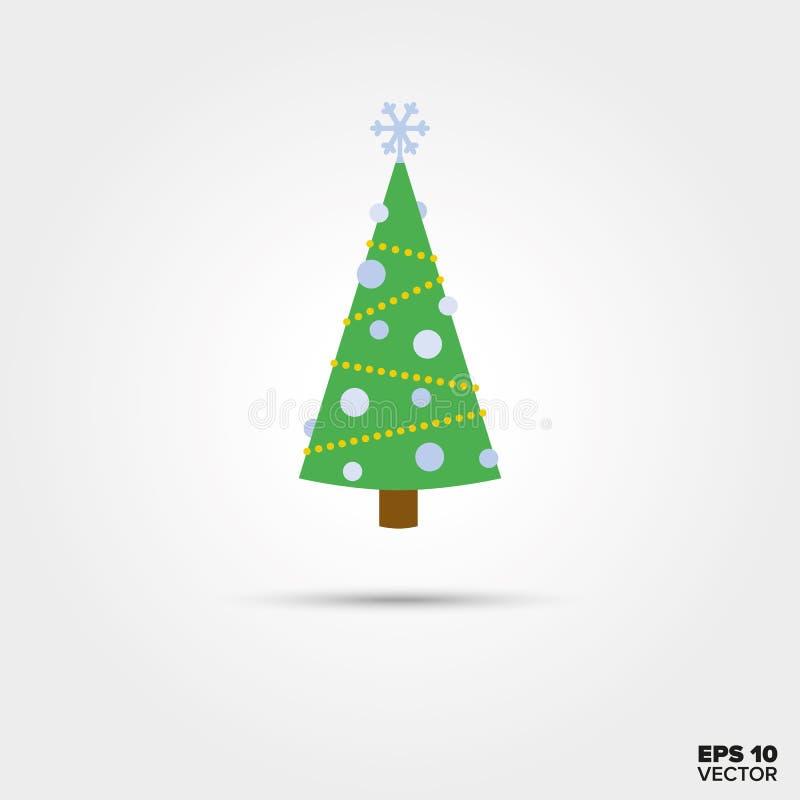 Icono del vector del árbol de navidad stock de ilustración