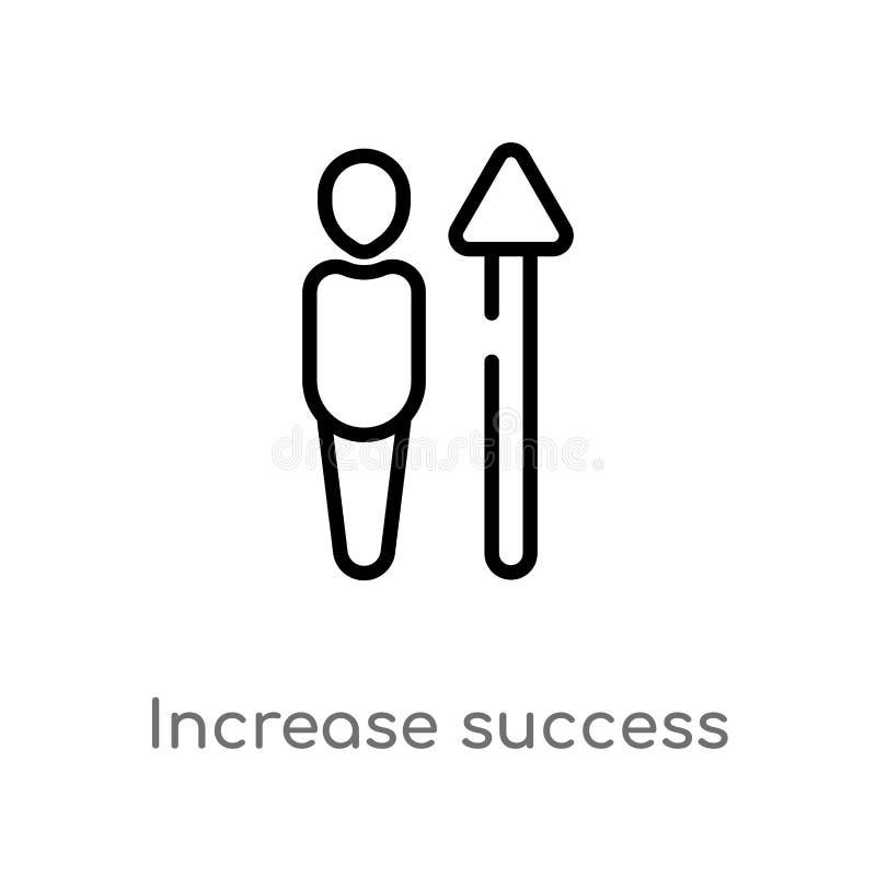 icono del vector del éxito del aumento del esquema l?nea simple negra aislada ejemplo del elemento del concepto de la interfaz de libre illustration