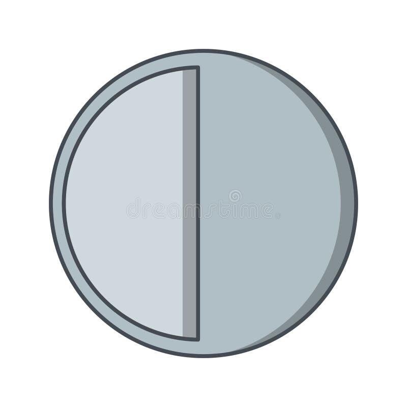 Icono del vector del último trimestre ilustración del vector