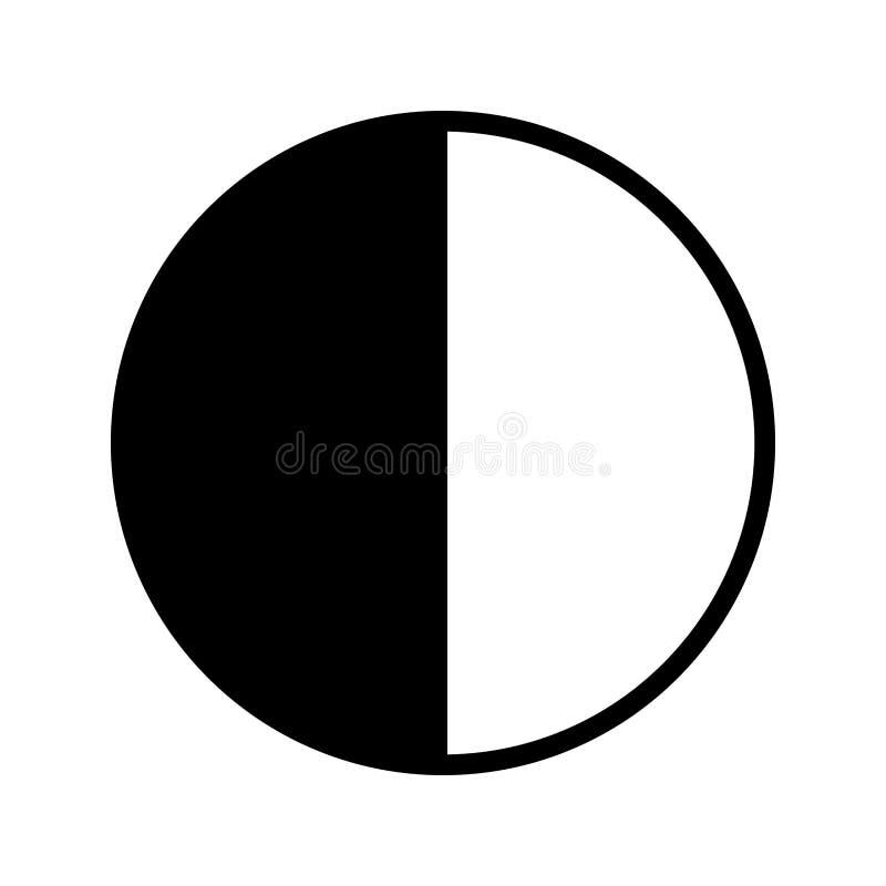 Icono del vector del último trimestre stock de ilustración