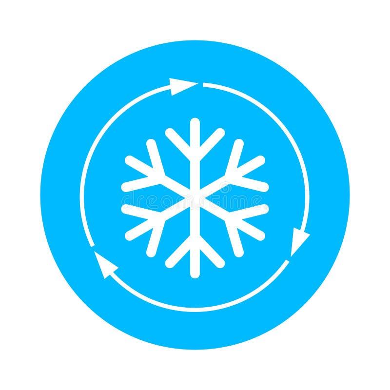 Icono del vector del acondicionador de aire ilustración del vector