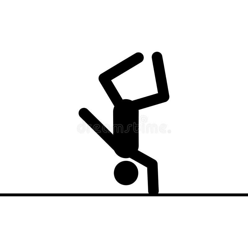 Icono del vector del acróbata ilustración del vector