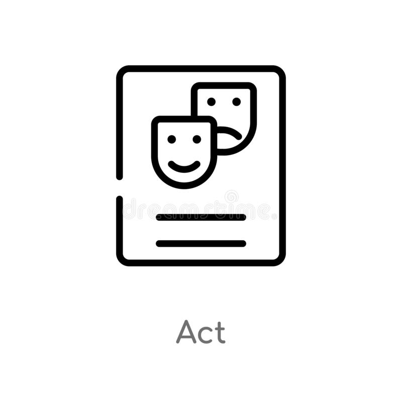 icono del vector del acto del esquema l?nea simple negra aislada ejemplo del elemento del concepto del arte icono editable del ac ilustración del vector
