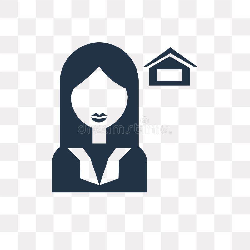 Icono del vector del agente aislado en el fondo transparente, tra del agente ilustración del vector