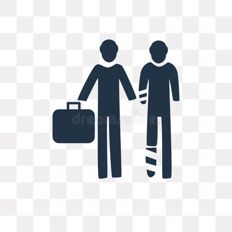 Icono del vector del agente de seguro aislado en fondo transparente, libre illustration