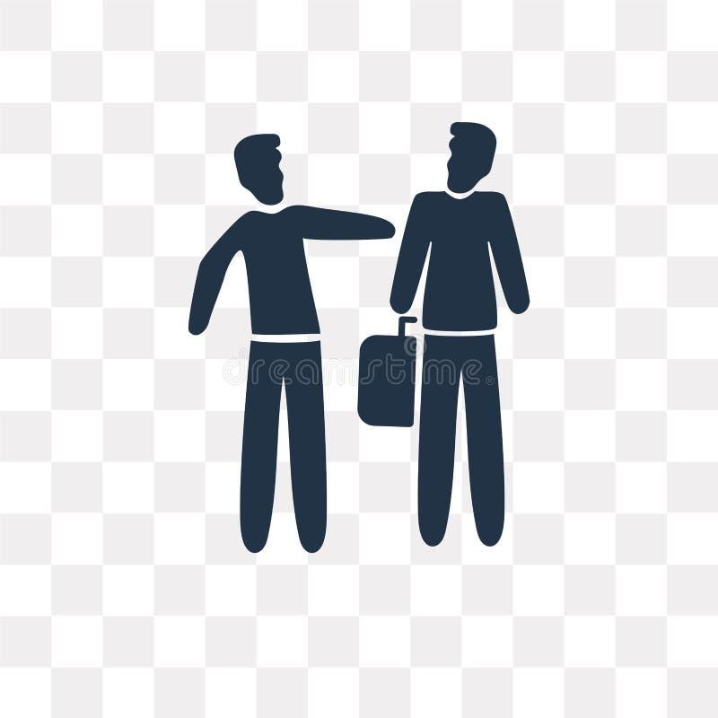 Icono del vector del agente de seguro aislado en fondo transparente, ilustración del vector