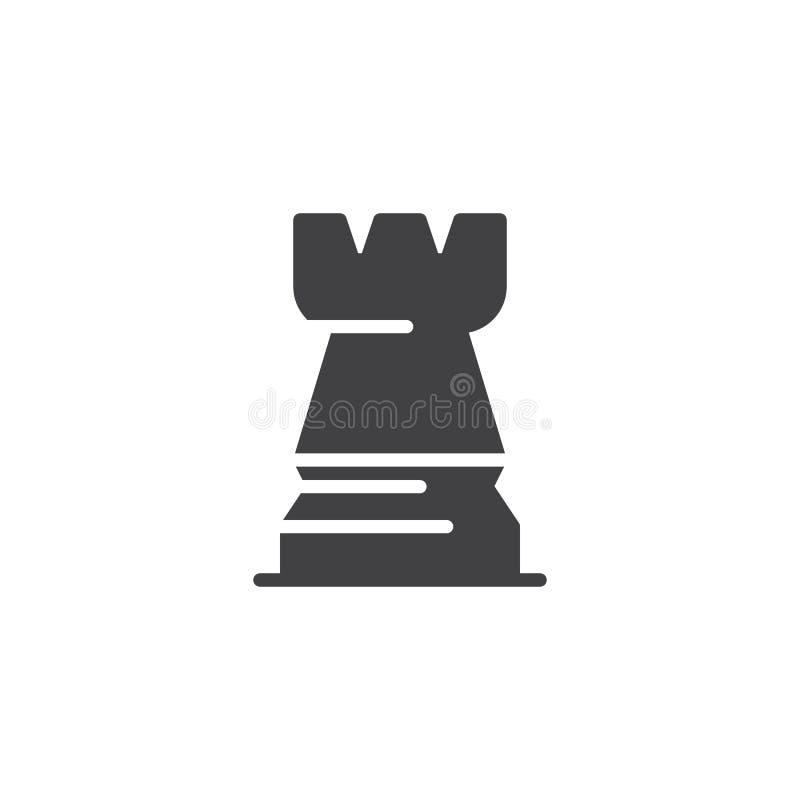 Icono del vector del ajedrez del grajo ilustración del vector