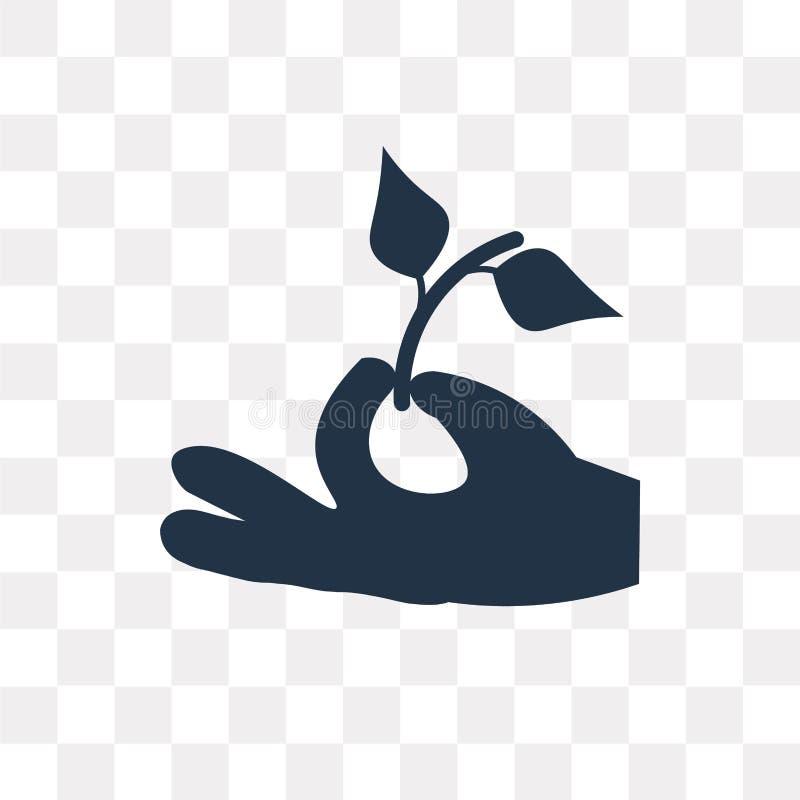 Icono del vector del ambiente aislado en el fondo transparente, Envi stock de ilustración