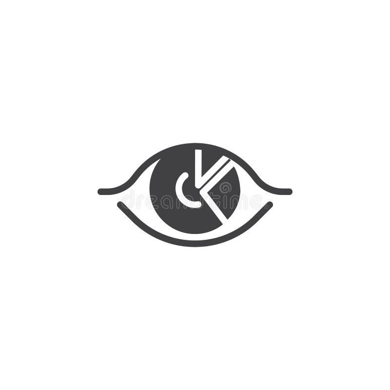 Icono del vector del análisis de la carta del diagrama ilustración del vector