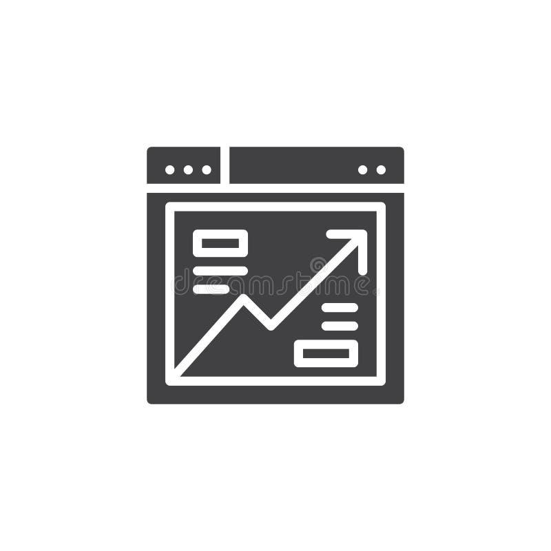 Icono del vector del analytics del navegador ilustración del vector