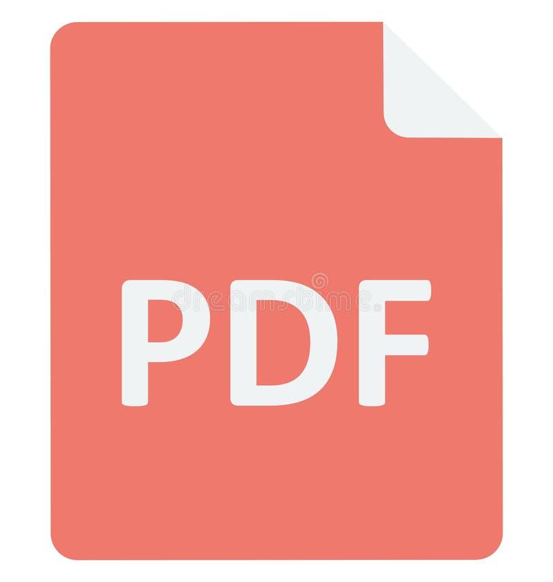 Icono del vector del archivo PDF que puede ser fácilmente corregir o icono modificado del vector del archivo PDF que puede ser fá libre illustration